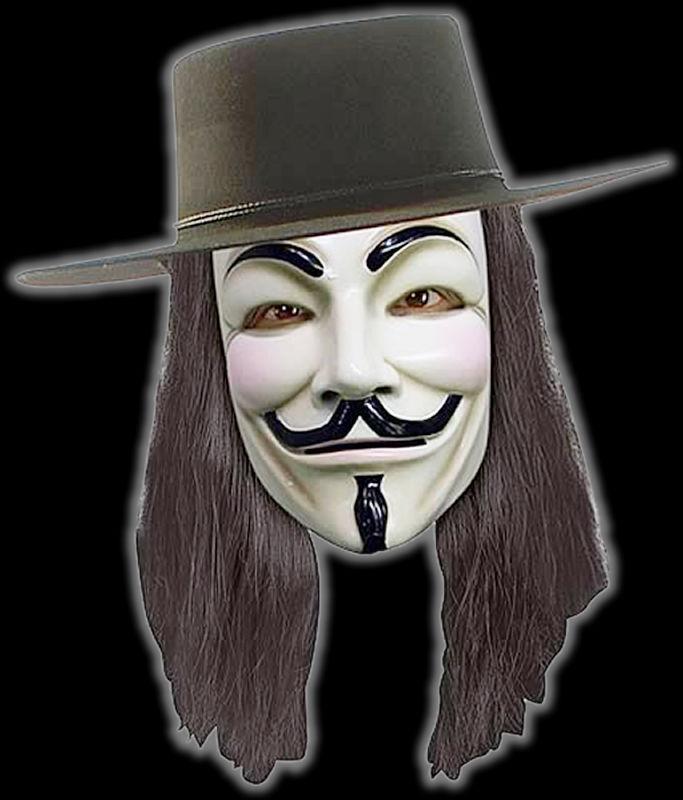 V For Vendetta Face Only Halloween Mask