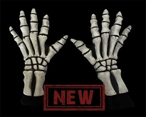 White Skeleton Gloves