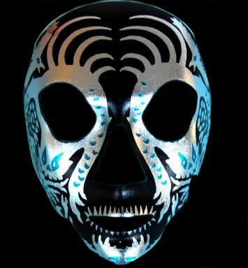 Day of the Dead Full Face Skull