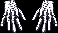 NON-Lightup Skeleton Hands