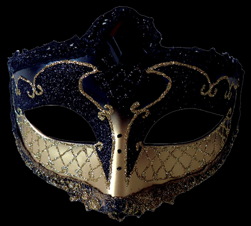Black Mardi Gras Eye Mask