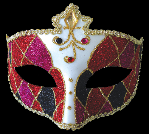 Red Mardi Gras Eye Mask