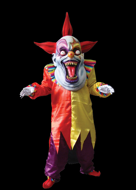 Red Yellow Evil Clown Costume