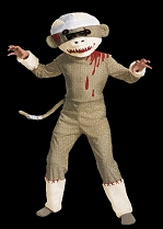 Child Sock Monkey Zombie Costume