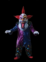 Purple Blue Evil Clown Costume