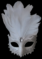 White Carnivale Eye Mask