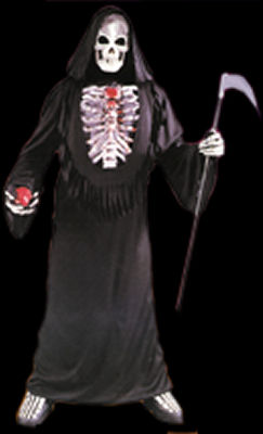 Skel-E-Bone Costume with Pump + Blood