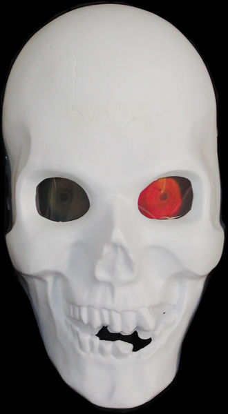 Skull with Hologram Eyes