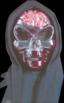 Bleeding Grey Alien Skull