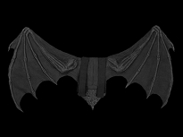 Large Bat Wing Black
