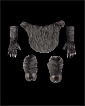 Grey Furry Faun Satyr Goat Bundle