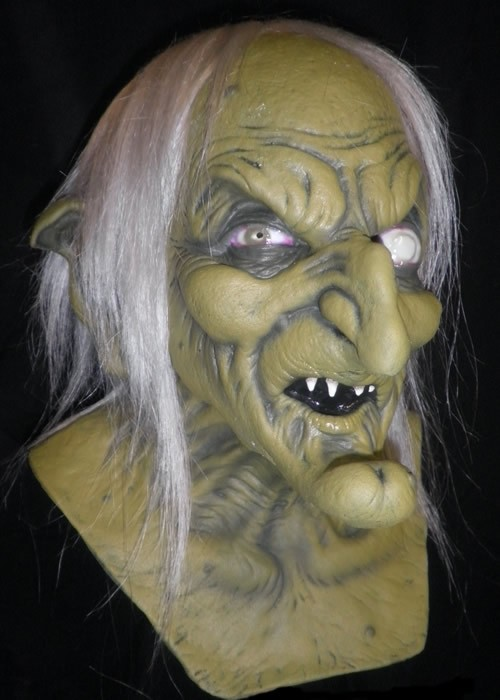 Green Cackle Witch with White Hair