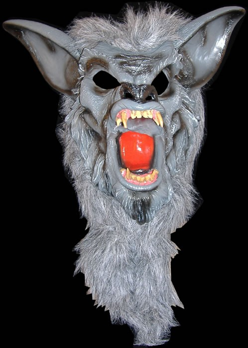 Grey Werewolf with Fangs