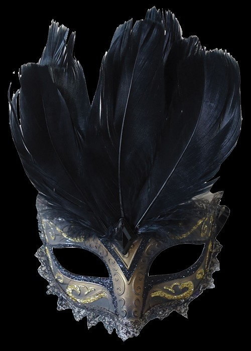 Black Carnivale Eye Mask