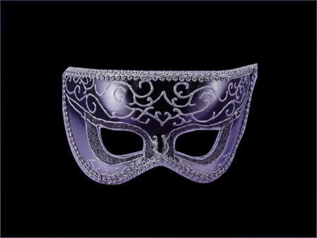 Black Silver Half Style Mask