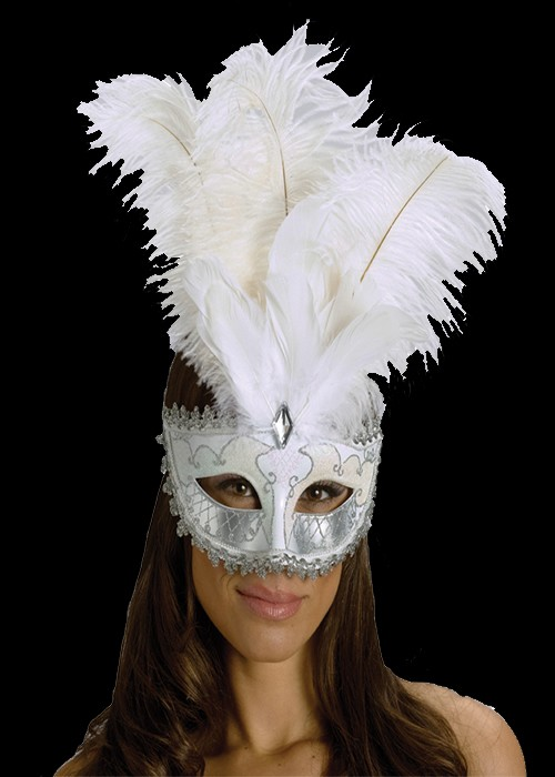 Carnival Big Feather White