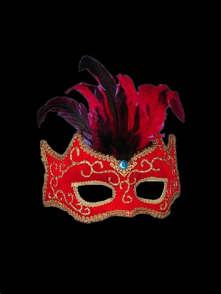 Red Gold Half Style Mask