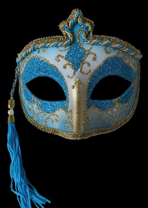 Tasseled Mardi Gras Mask