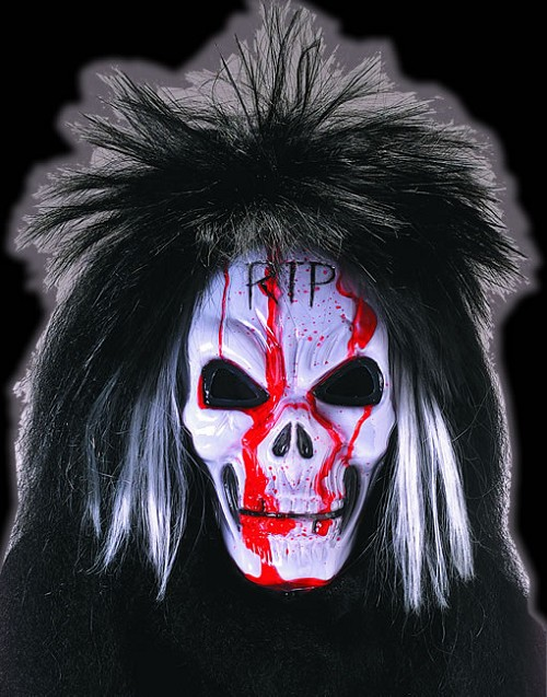 Bleeding Skull with Hair