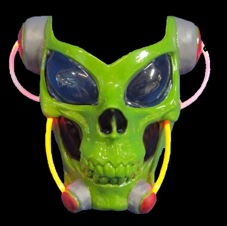 Green Skull Alien Lightup